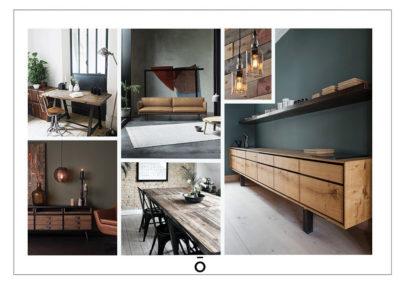 Mood Board, décoration inspiration industriel pour de la location court séjour, lyon