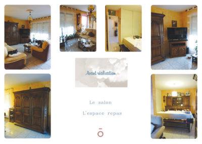 reportage photos avant du projet COCON FAMILIAL, décoration vieillissante, mobilier imposant et foncé
