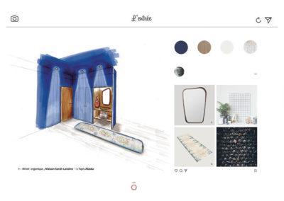 croquis mobilier sur mesure, agencement entrée, placard, rangements, lyon